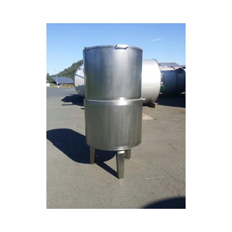 0210 Edelstahlbehälter, Doppelmantel 1 cbm