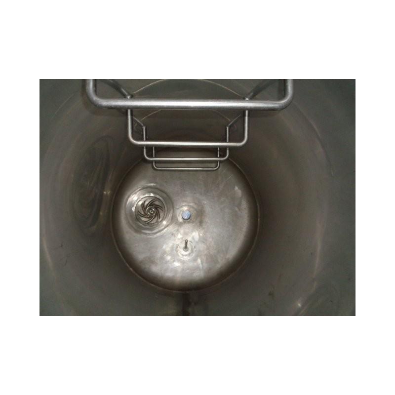 0229 Edelstahlbehälter, isoliert, 0,5 cbm