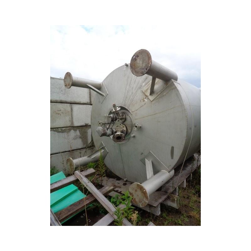 0132 Edelstahlbehälter, isoliert, Doppelmantel, 5 cbm