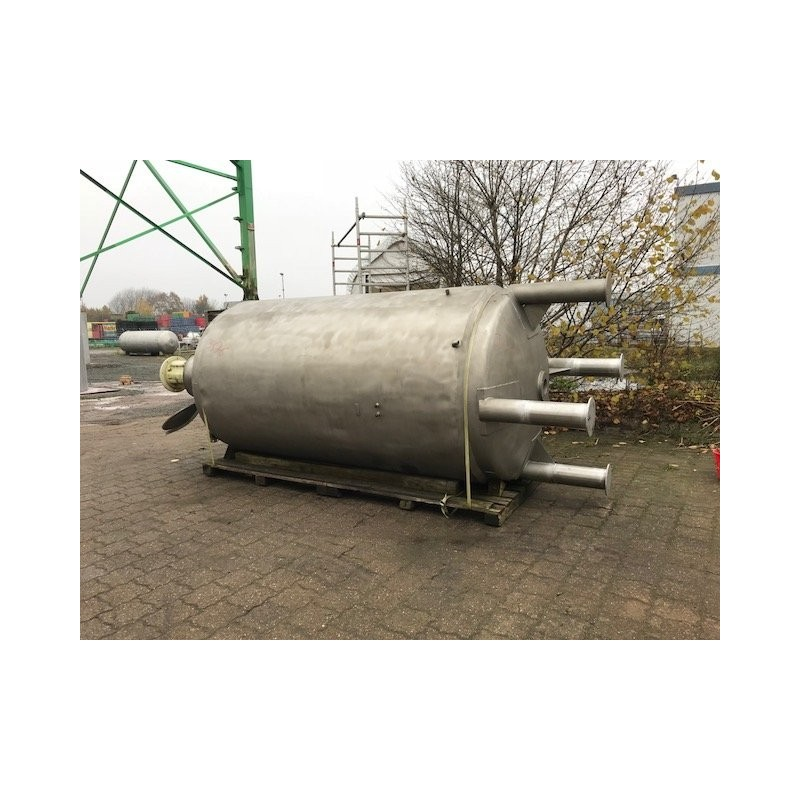 0105 Rührwerksbehälter mit Doppelmantel 6,6 cbm
