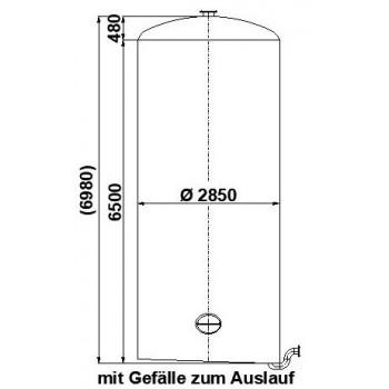 0020 Edelstahlbehälter, 41 cbm