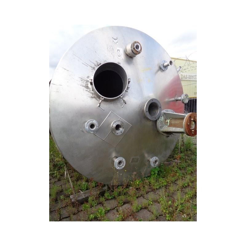 0119 Rührwerksbehälter aus Edelstahl, 5,5 cbm