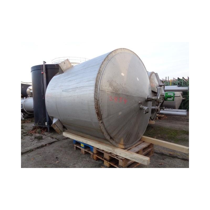 0124 Edelstahlbehälter, isoliert, 5,5 cbm