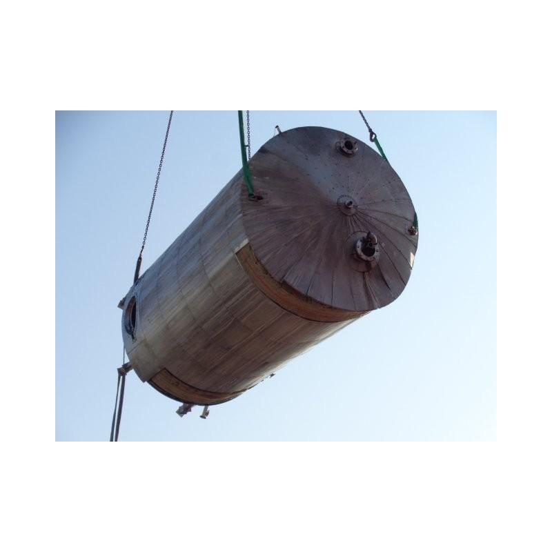 0040a Rührwerksbehälter aus Edelstahl, isoliert, 29 cbm