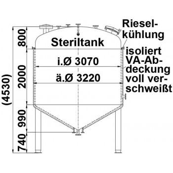 Steriltank, 20 cbm,...