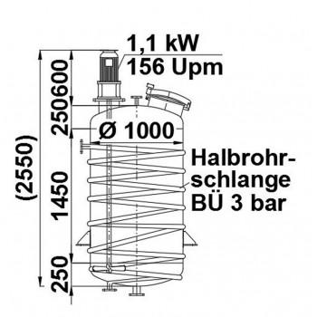 Rührwerksbehälter, 1,1 cbm,...