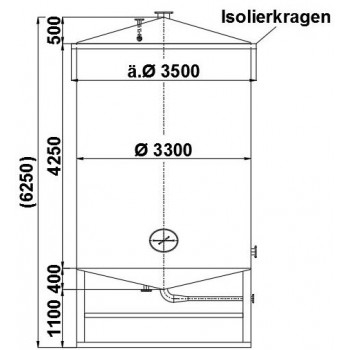 Edelstahlbehälter, 37,5 cbm