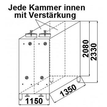 Rechteckbehälter, 3 cbm