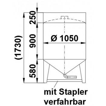 Rundcontainer, 0,95 cbm