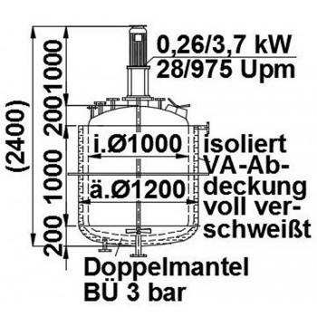 Rührwerksbehälter, 1,2 cbm...