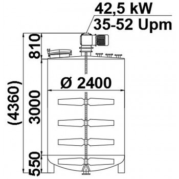 Rührwerksbehälter, 15 cbm