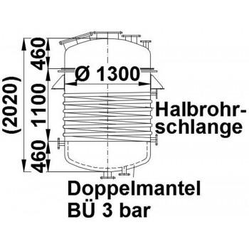 Edelstahlbehälter, 1,6 cbm,...