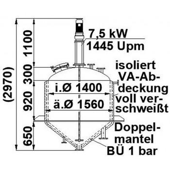 Rührwerksbehälter, 1,7 cbm,...