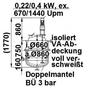 Rührwerksbehälter, 0,3 cbm,...