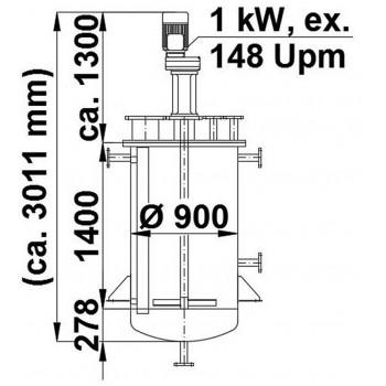 Rührwerksbehälter, 1,05 cbm
