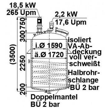 Rührwerksbehälter, 4,5 cbm