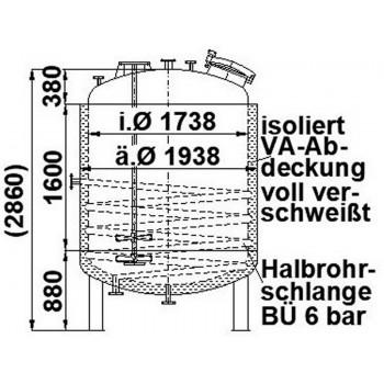 Rührwerksbehälter, 4,5 cbm,...