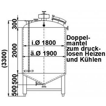 Edelstahlbehälter, 5 cbm