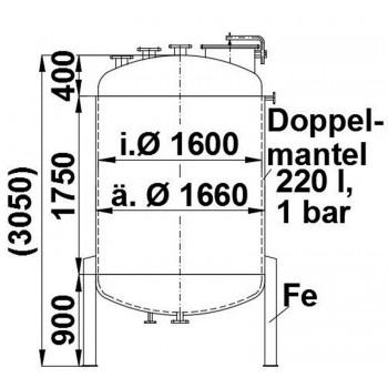 Druckbehälter, 5,125 cbm