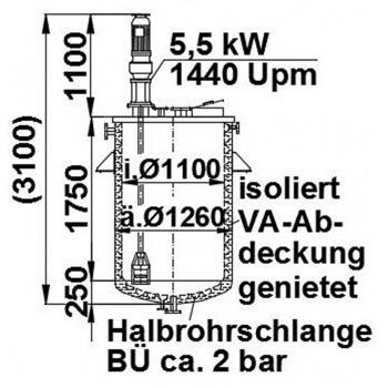 Rührwerksbehälter, 4 cbm,...