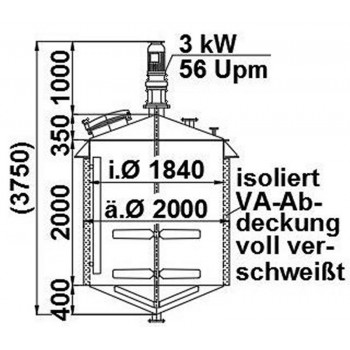 Rührwerksbehälter, 5,5 cbm,...