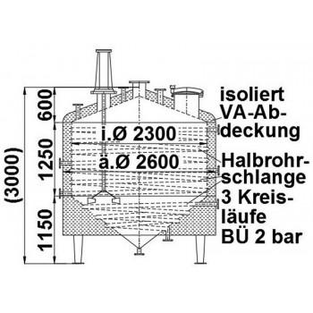 Rührwerksbehälter, 5,5 cbm