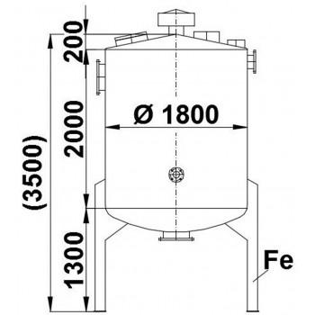Edelstahlbehälter, 5,6 cbm