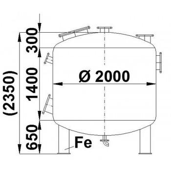 Edelstahlbehälter, 5,9 cbm