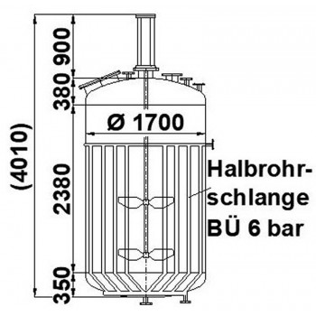 Rührwerksbehälter, 6,5 cbm,...