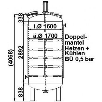 Rührwerksbehälter, 6,6 cbm,...