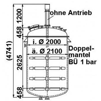 Rührwerksbehälter, 10 cbm,...
