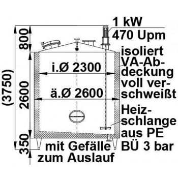 Rührwerksbehälter, 11 cbm,...