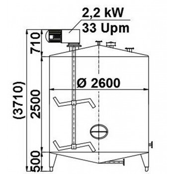 Rührwerksbehälter, 14 cbm