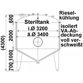 Steriltank, 18,5 cbm,...