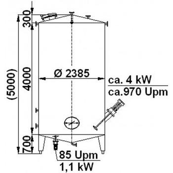 Rührwerksbehälter, 18,7 cbm