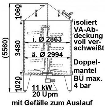 Rührwerksbehälter, 20 cbm,...