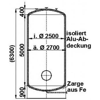 Edelstahlbehälter, 25 cbm,...