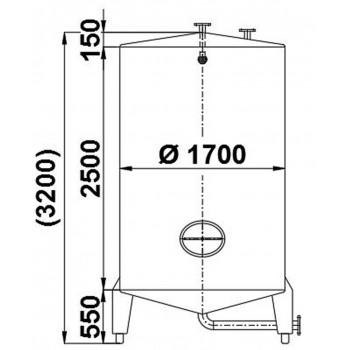 Edelstahlbehälter, 5,8 cbm