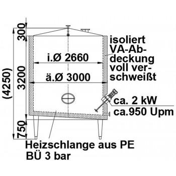 Rührwerksbehälter, 17 cbm,...