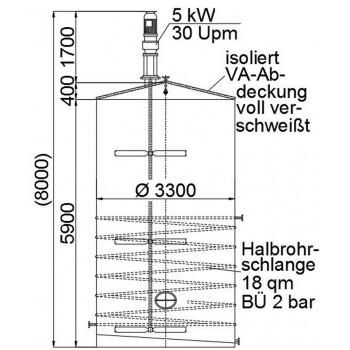 Rührwerksbehälter, 50 cbm,...