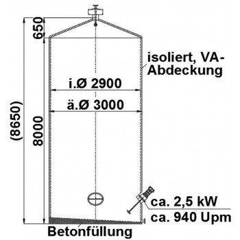 Rührwerksbehälter, 50 cbm