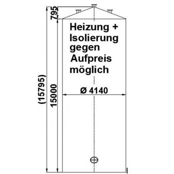 Flachbodenbehälter, 205 cbm